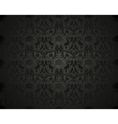 Black Seamless wallpaper pattern vector image