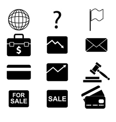 icons 9 vector image vector image