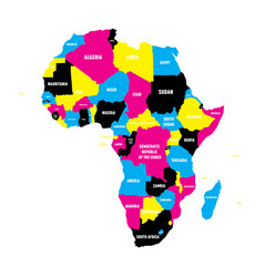 political map of africa continent in cmyk colors vector image vector image