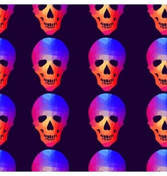 Seamless background with geometric skull vector image vector image