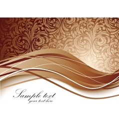 Floral background in brown color vector image vector image