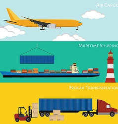 Logistic concept vector image vector image