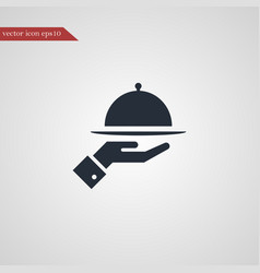 meal tray icon simple vector image