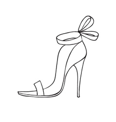 Female shoe icon vector image