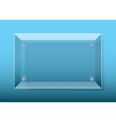 glass plaque blue vector image