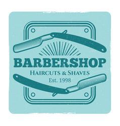 hairdressing salon or barbershop vintage label vector image vector image