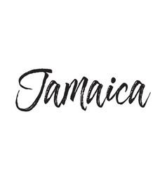jamaica text design calligraphy vector image vector image