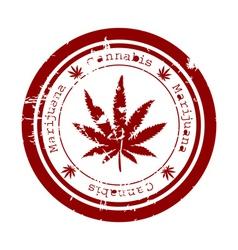 marijuana stamp vector image vector image