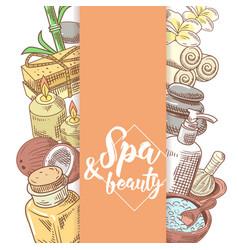 spa salon wellness beauty hand drawn doodle vector image