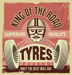 Vintage metal sign - Retro garage tin poster vector image
