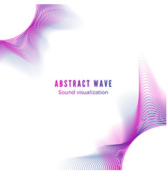 Abstract color radial sound wave music album vector