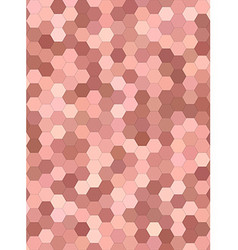 Abstract hexagonal tile mosaic background vector image