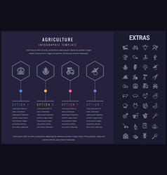 Agriculture infographic template elements icons vector