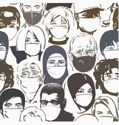 air pollution protection people different ages vector image