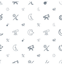 astronomy icons pattern seamless white background vector image