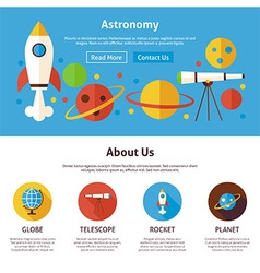 Astronomy Science Flat Web Design Template vector image