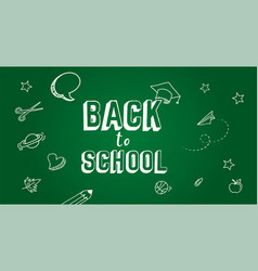 back to school concept banner and background vector image