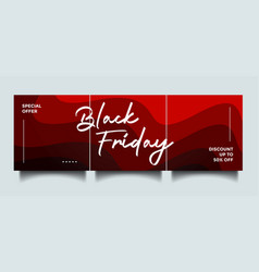black friday instagram social media sale banner vector image