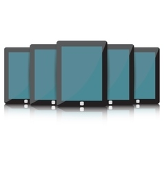 Black Tablet set vector image