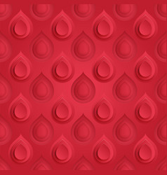 Blood drop symbol seamless pattern red donor vector