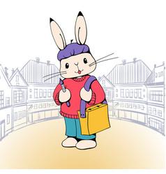 Bunny artist vector