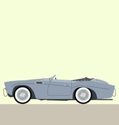 cabriolet classic car vector image