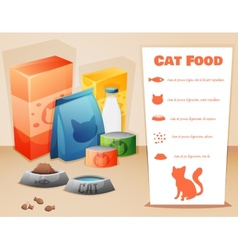 Cat food concept vector