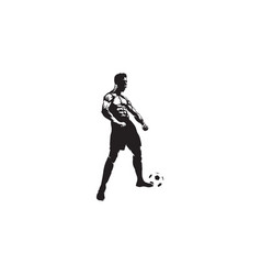 celebrations football player vector image