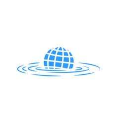 climate change sinking abstract vector image