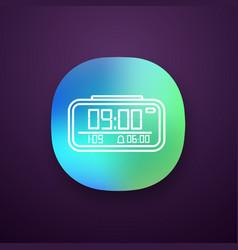 digital alarm clock app icon vector image