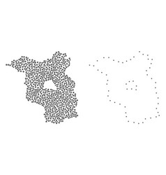 Dotted contour map brandenburg state vector