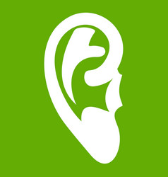 Ear icon green vector