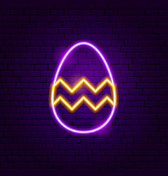 easter decor neon sign vector image