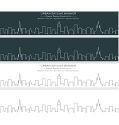 edinburgh single line skyline banner vector image