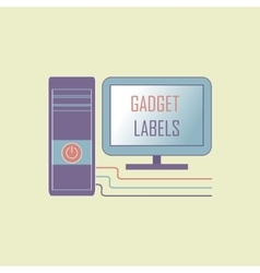 Electronic gadget label for design vector image