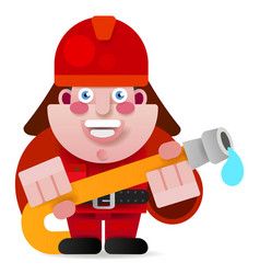 firefighter ready to get started vector image