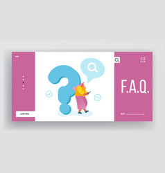Frequently asked questions faq website landing vector