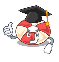 graduation swim tube character cartoon vector image
