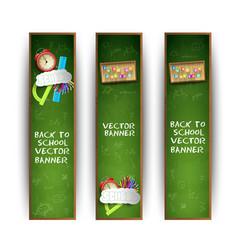 Green school banner set vector
