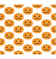 halloween pumpkin seamless pattern scary vector image