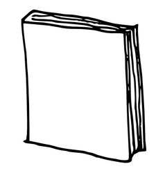 hand drawn book vector image