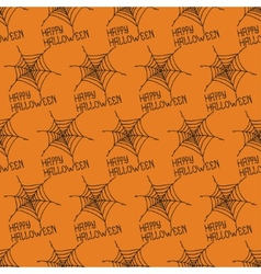 Happy Halloween Seamless pattern with spiders web vector image