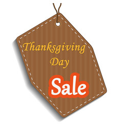 Happy thanksgiving sale sticker tag or label ve vector
