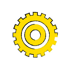 Industry gear to process engineering vector