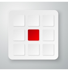 Infographics with squares vector