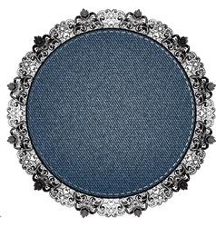 lace denim vector image