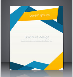 Layout business brochures magazine cover vector