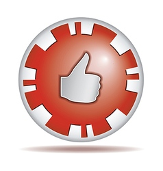 Like Round button vector image