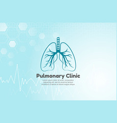 Lungs for pulmonary clinic vector