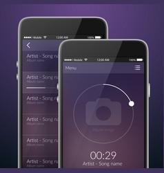 mobile app design vector image